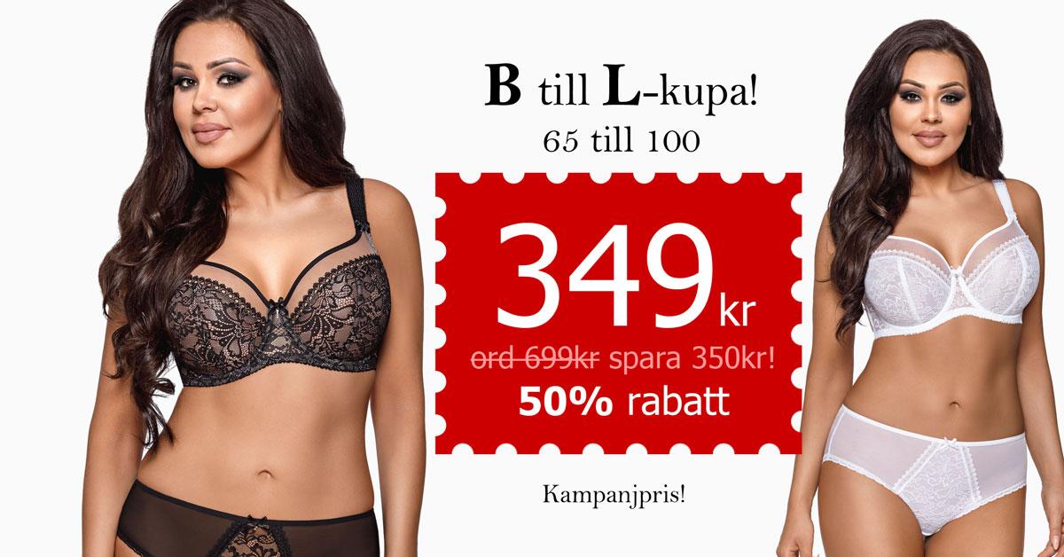 Snygg spetsbehå med skir meshkant, B till L-kupa, 349 kr (ord. 699kr) - Spara 350kr!