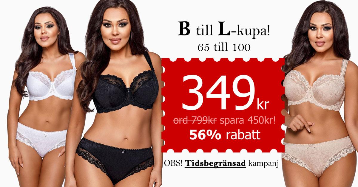 BH med spets, B till L-kupa, 349 kr (ord. 799kr) Spara 450kr!