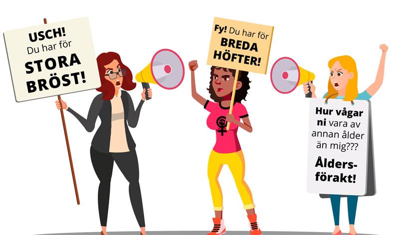 Bröst, inklusivitet och kroppspositivism - Hyckleri och oärlighet