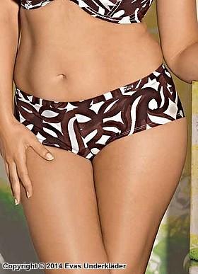 Bikinitrosa med snirklande mönster