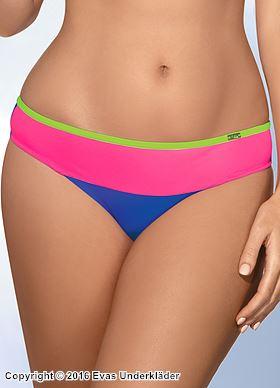 Färgglad bikinitrosa i sportig modell