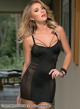 Klänning med banddetaljer