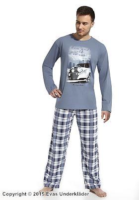 Denimblå pyjamas med retrobil