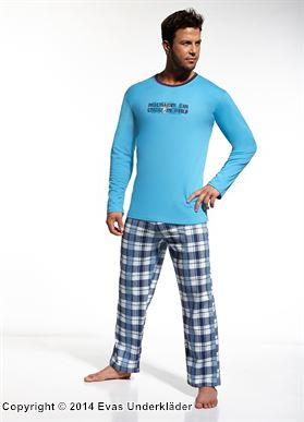 Pyjamas med rutig byxa