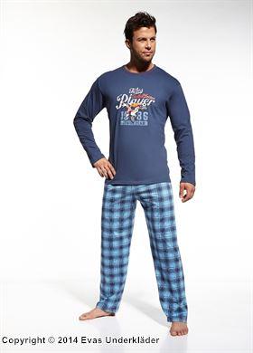 Pyjamas med rutiga byxor