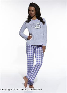 Mönstrad pyjamas med tryck