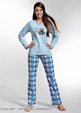 Rutig pyjamas i blått