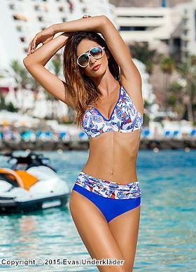 Bikini-set med asiatiskt paisley-mönster