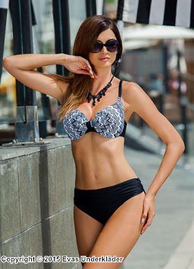 Bikini med prickigt sick-sackmönster