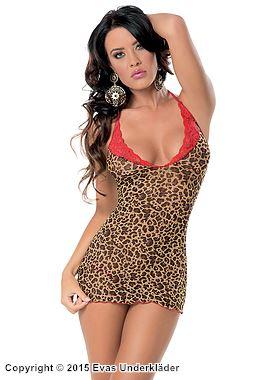 Leopardmönstrat nattlinne
