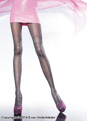 Strumpbyxa med mönstrad stockingsdel