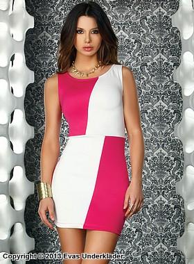 Rutig klänning, rosa