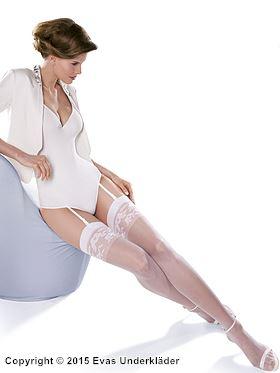 Stockings med vackert mönstrad topp
