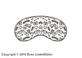 Sovmask med tecknat mönster
