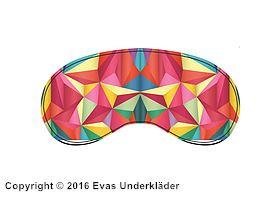 Sovmask med färgglatt mönster