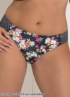 Blommig bikinitrosa med prickar