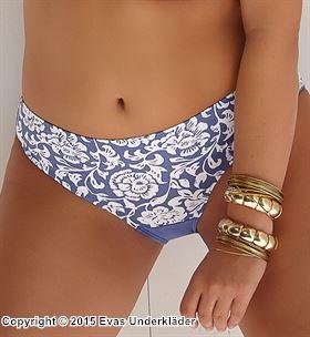 Bikinitrosa med blommigt mönster