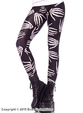 Leggings med skeletthänder