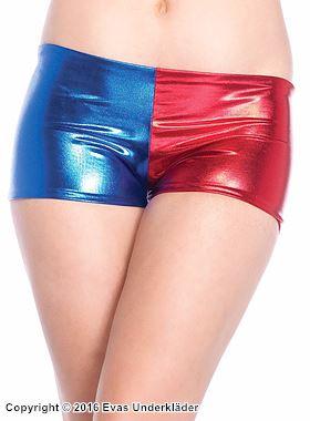 Glänsande shorts i lamé