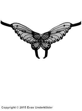 Stringtrosa med fjäril, öppen gren