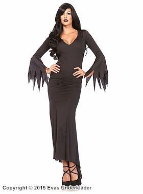 Morticia Addams-klänning, maskeraddräkt