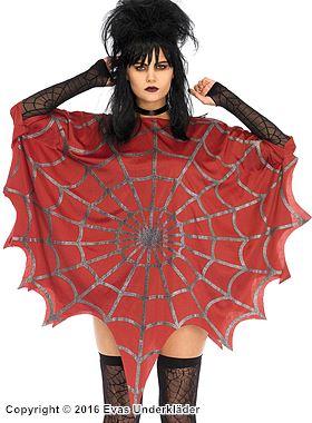 Poncho med spindelnäts-mönster