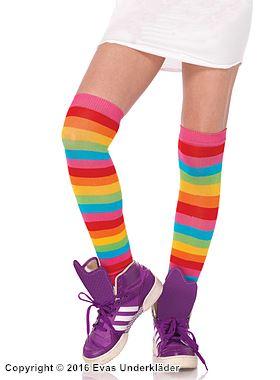 Regnbågsfärgade stockings
