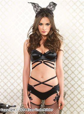 Underklädesset med smala satinband