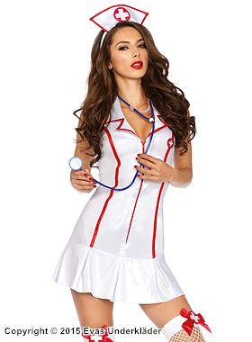 Pigg sjuksköterska, maskeraddräkt
