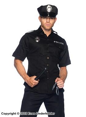 sverige match polisuniform maskerad