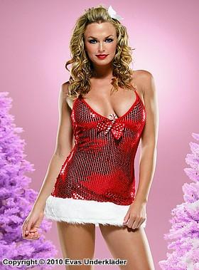 Julklänning med paljetter