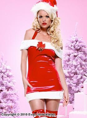 Julklänning med bjällror och rosett