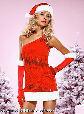 Glänsande julklänning