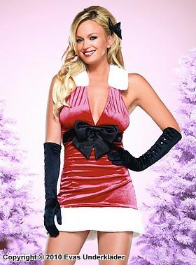 Julklänning med stor rosett