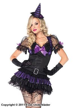 Snygg halloweenhäxa, maskeradkläder