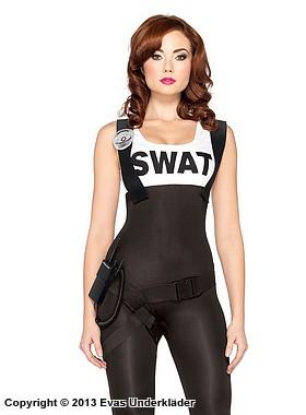 kåta tjejer polisuniform maskerad