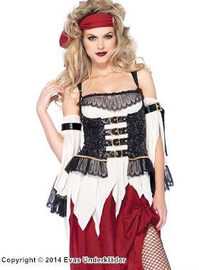 Elegant piratklänning, maskeraddräkt