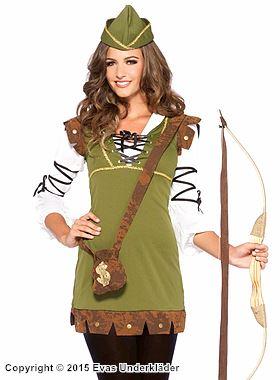Robin Hood, maskeraddräkt i 3 delar