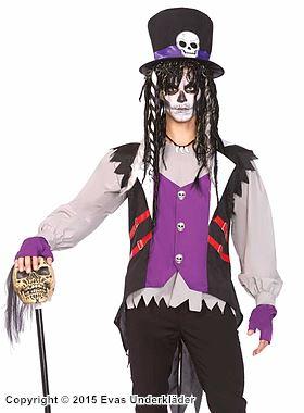 Voodoo-präst, maskeraddräkt i 5 delar