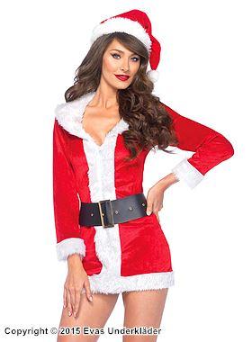 Jultomte-klänning, 3 delar