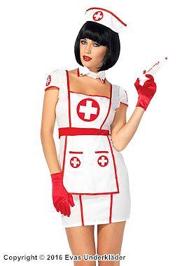 Figursydd sjuksköterskeklänning för maskerad