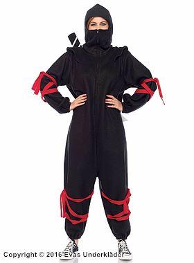 Mysig one piece i ninja-stil, maskeraddräkt