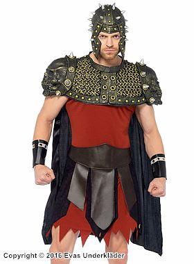 Fantasifull grekisk krigare, maskeraddräkt i 5 delar