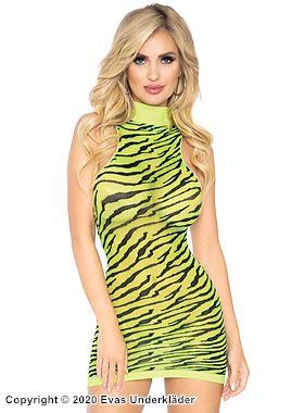Tigermönstrad miniklänning