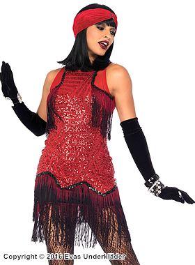 Gatsby-klänning, maskeraddräkt i 2 delar