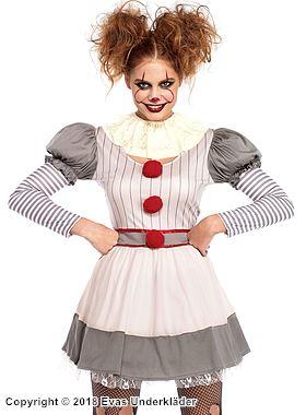 Clown-klänning, maskeraddräkt