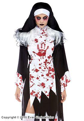 Zombie-nunna, maskeradkostym