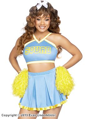 Lekfull cheerleader, maskeraddräkt