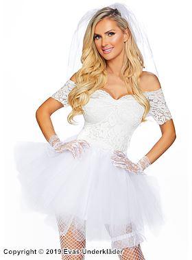 Sexig brud, maskeradklänning