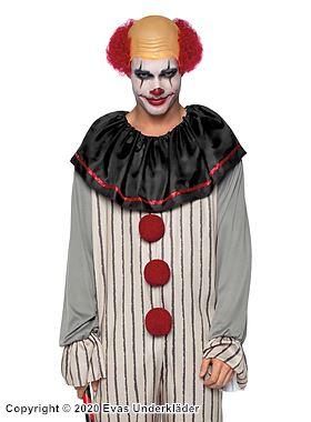 Läskig clown, maskeraddräkt